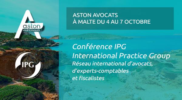 [Event] Aston Avocats sera présent à la conférence d'automne de l'IPG à Malte