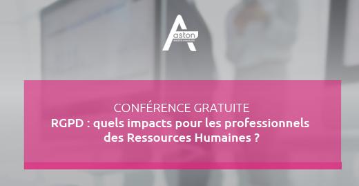 Conférence RGPD : quels impacts pour les professionnels des Ressources Humaines ?