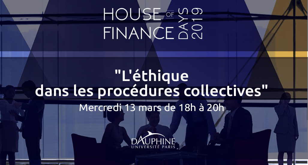 [House of Finance] Aston intervient lors de la table ronde « L'éthique dans les procédures collectives »