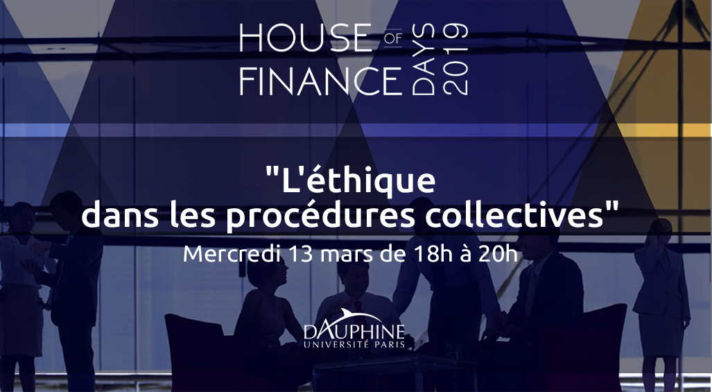 [House of Finance] Aston intervient lors de la table ronde «L'éthique dans les procédures collectives»