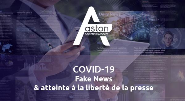 [Covid-19] Fake News et atteinte à la liberté de la presse